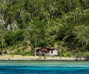 View of Two-bedroom Villa from the ocean at The Remote Resort Fiji Islands