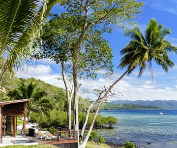 Views from the Two-bedroom Villa at The Remote Resort Fiji Islands.  Oceanfront,  plunge pool, family accommodation