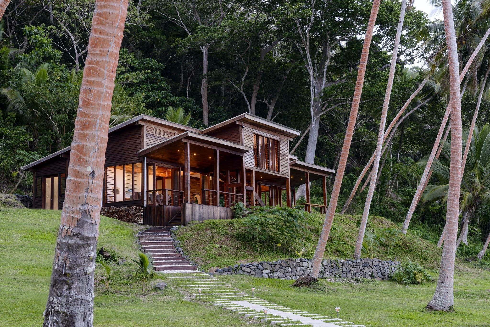 The Main Pavilion from the path at The Remote Resort Fiji Islands