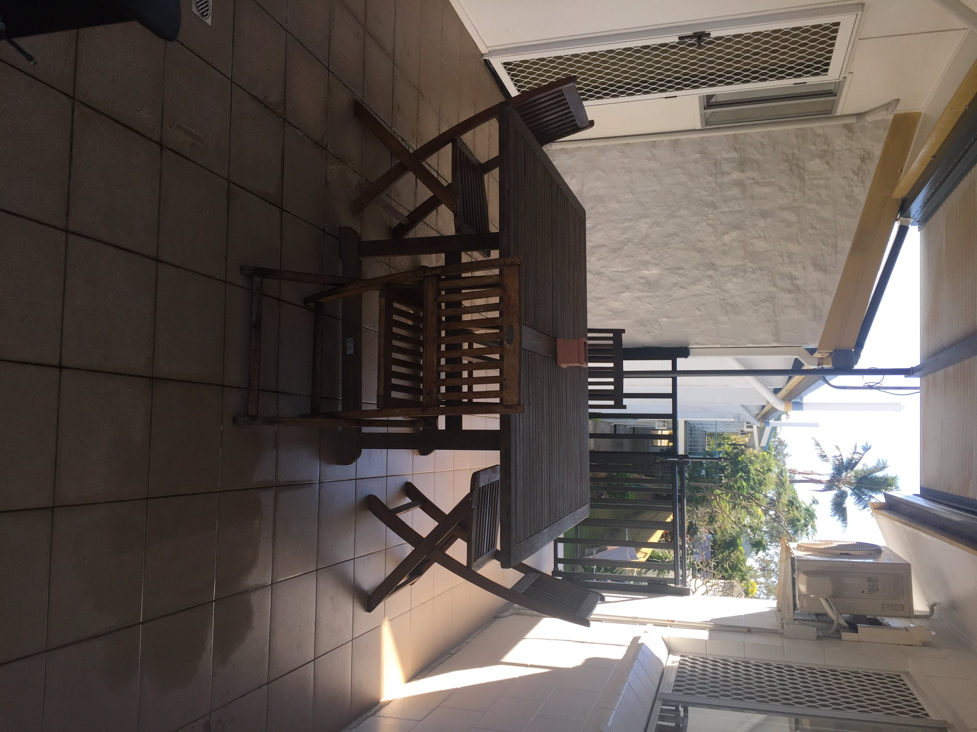 outdoor area to 3 bedroom apartment