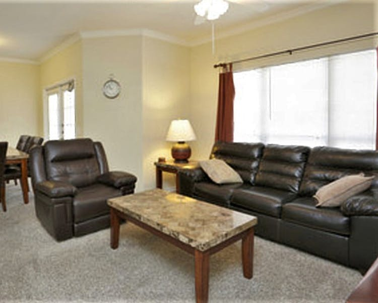 The spacious living room in each reside unit is the perfect place to relax after a long day