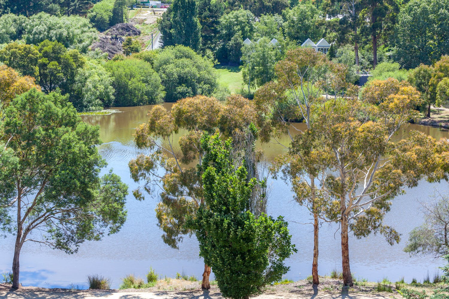 View over Lake Daylesford