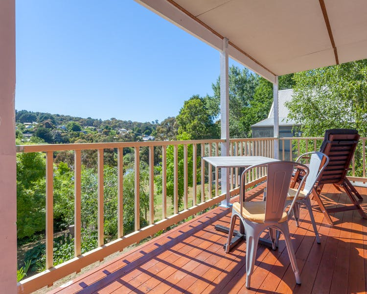 Balcony overlooking Lake Daylesford