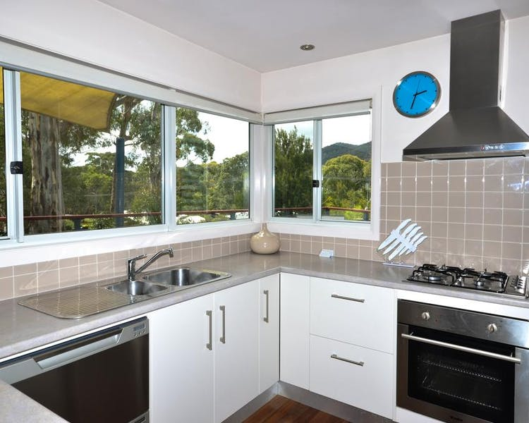 Blue Ridge Retreats kitchen with a view