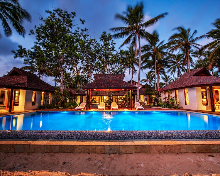 beachfront boutique hotel coral coast fiji infinity pool