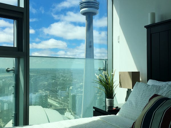 CN Tower from bedroom
