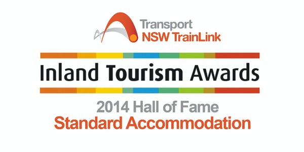 Inland Tourism Award 2014 Lodge Outback Motel Hall of Fame
