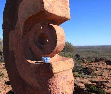 close up Living Desert Sculptures Broken Hill