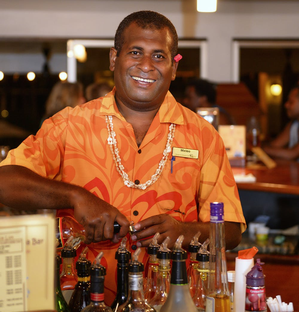 Mateo - Talanoa Bar - the best Happy Hour cocktail maestro on the Coral Coast!