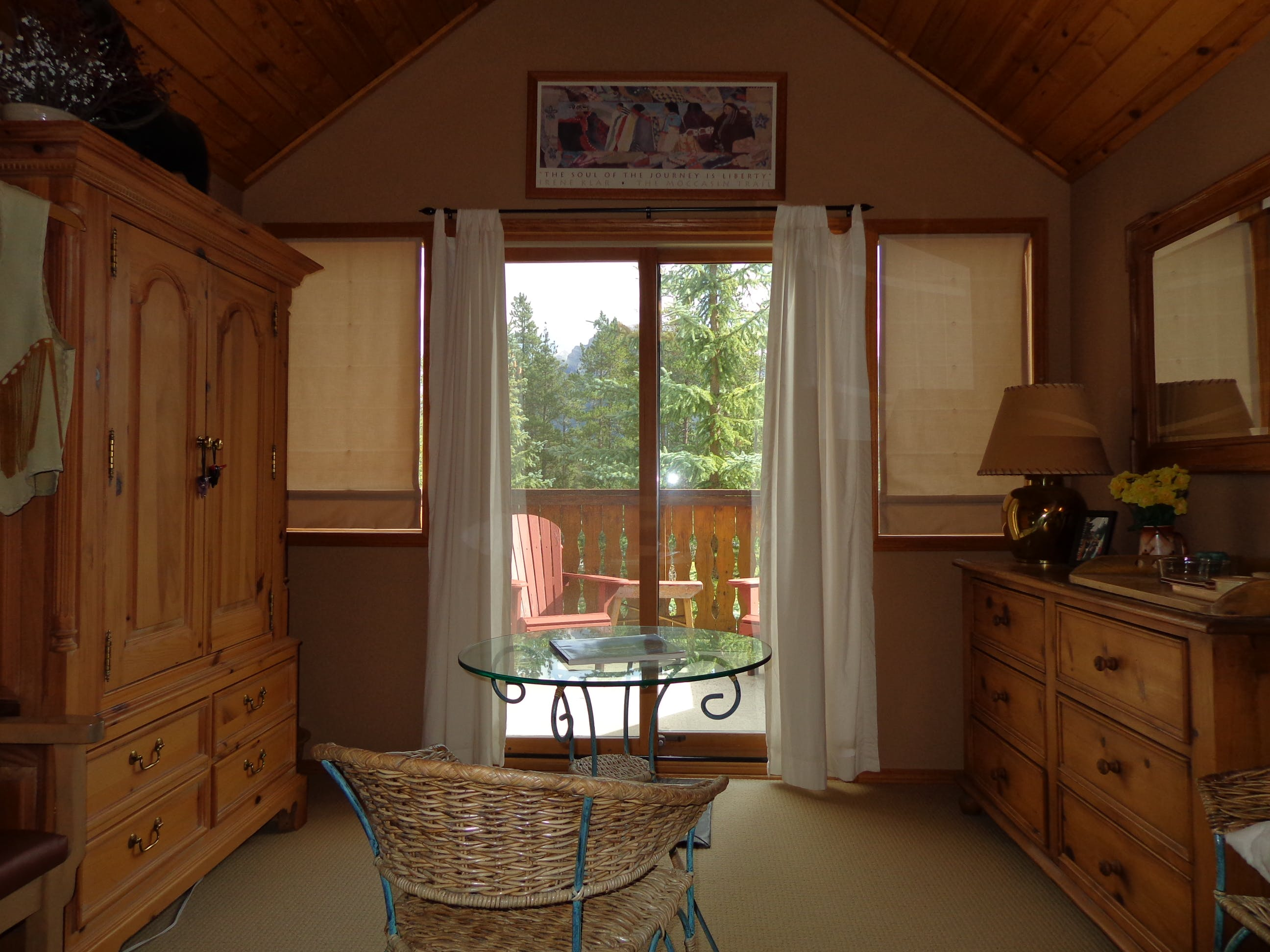 Mountain View suite includes dressing area and private deck