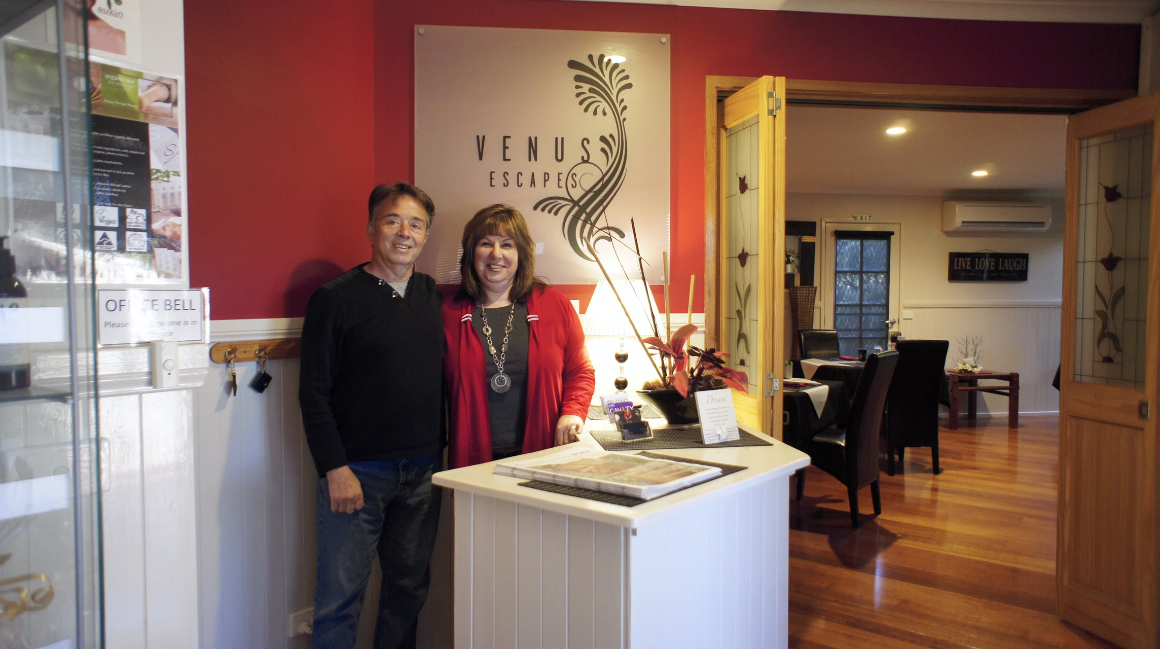 Owners Karen and Ted Wlas Venus Escapes