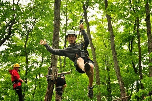 Treetop trekking near Walker Lake Resort in Muskoka