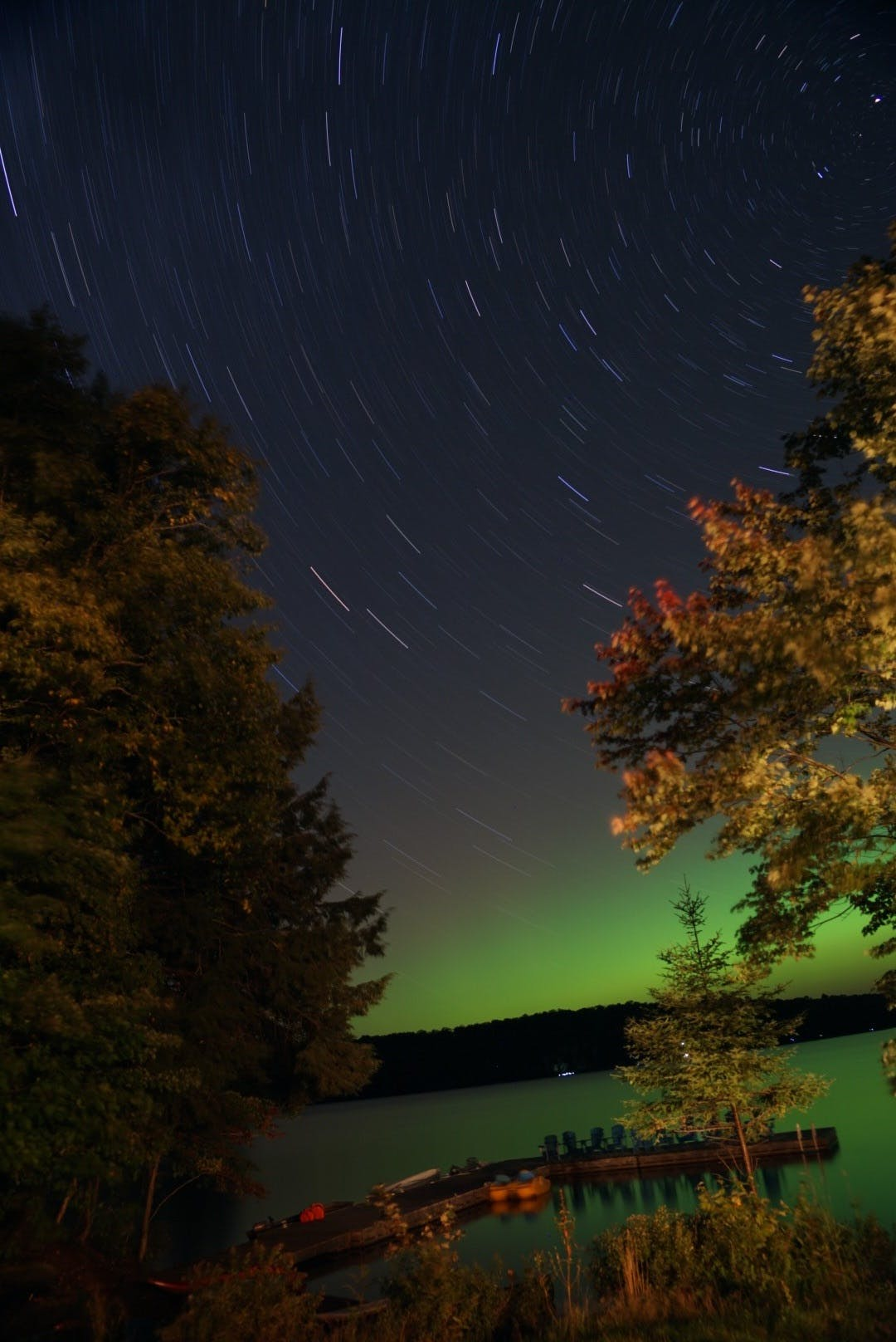 Aurora Borealis at Walker Lake Resort in Muskoka