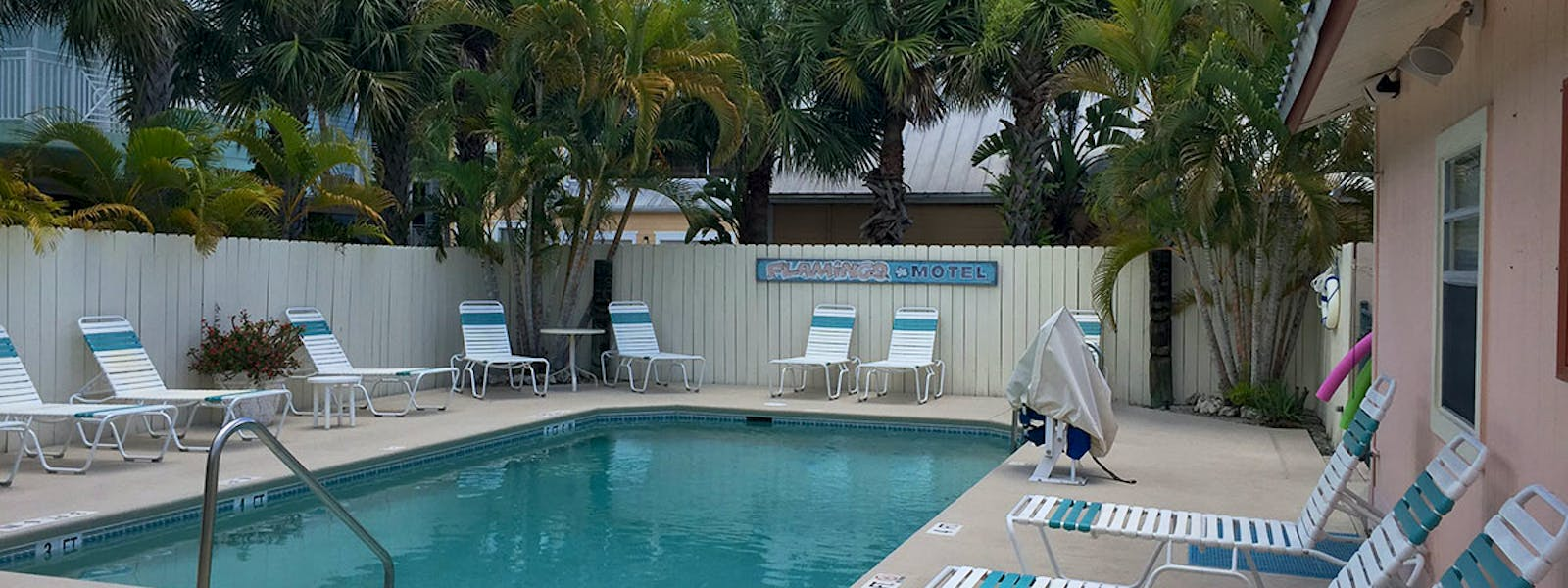 Heated pool at the Flamingo Motel & Villas Bonita Springs