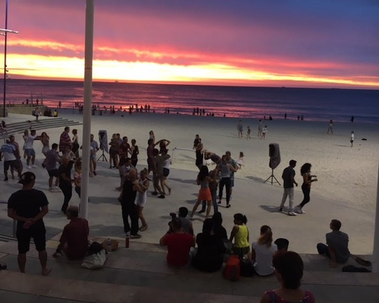 WAZouk – The Sandpit – Beach Dancing - enjoy Latin dancing in the sunset at Scarborough Beach every Sunday from 3 pm