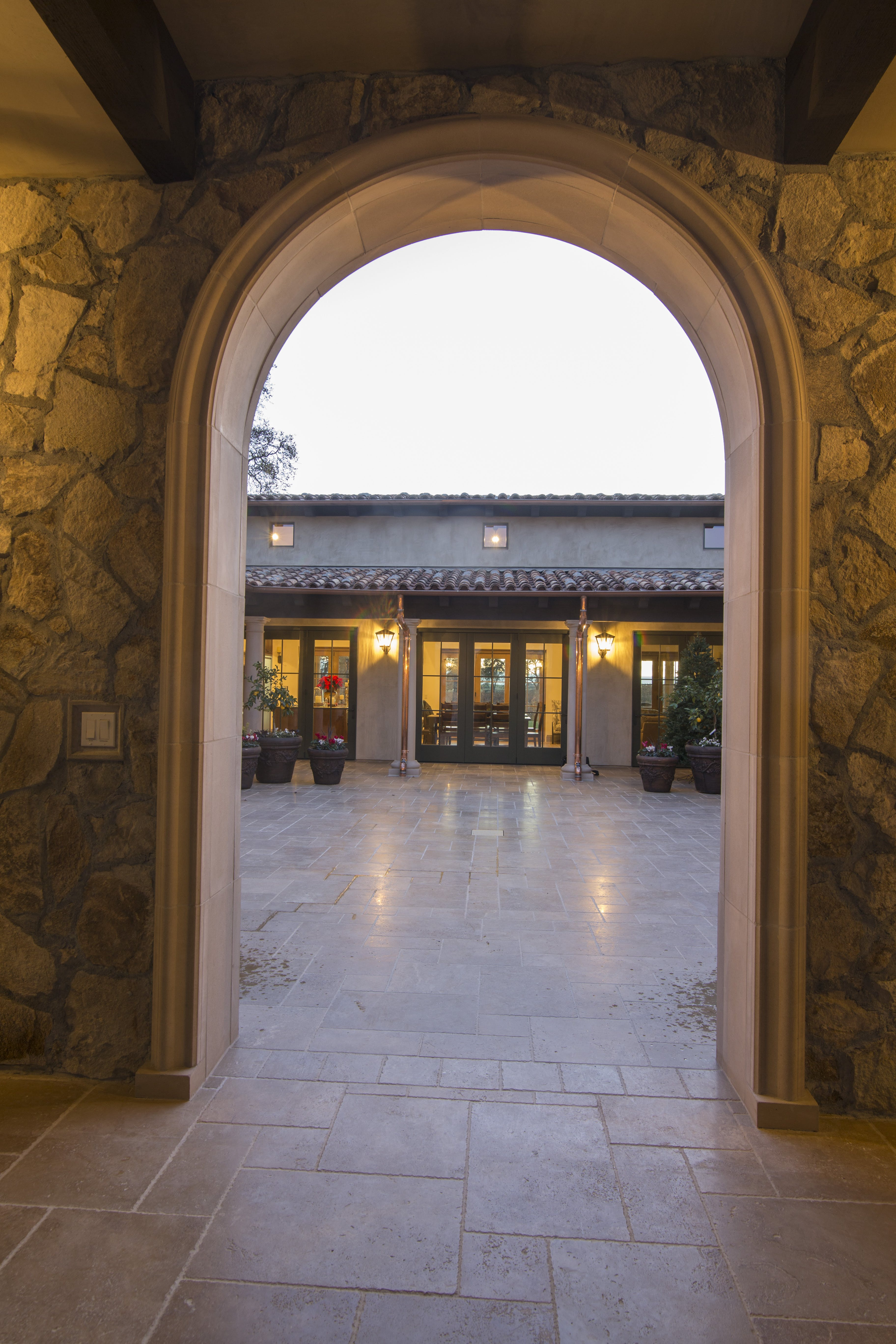 Arch entrance to Courtyard