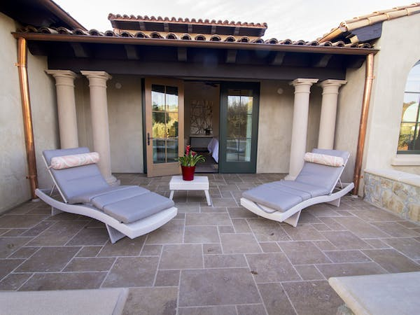 Rhone Suite's private large patio