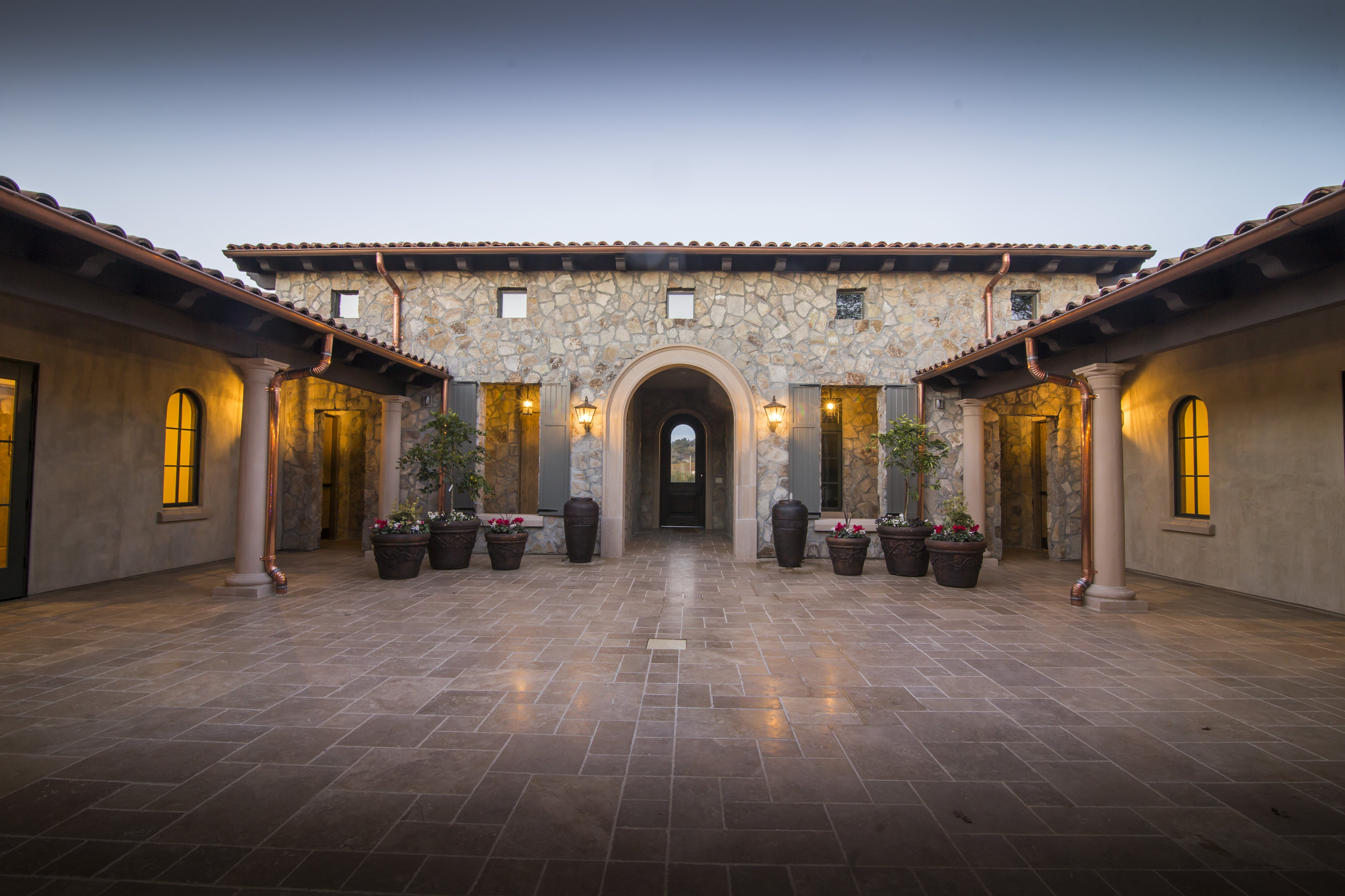 Expansive Open Air Courtyard for Parties, Weddings, Events