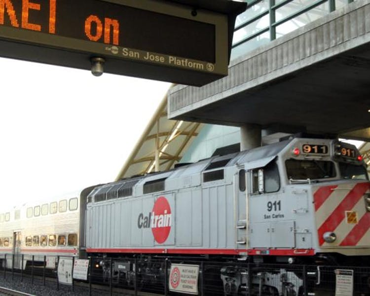 Caltrain to San Francisco or Silicon Valley is 3 minutes walking distance from The Dylan Hotel