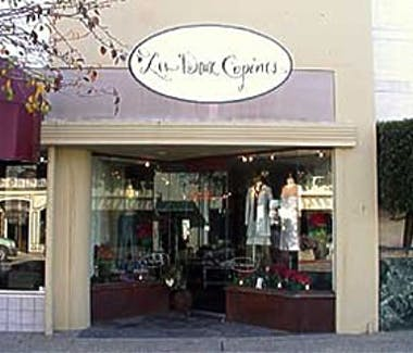Burlingame Ave. close to The Dylan Hotel. Les Deux Copine women clothing