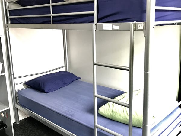 All bedding provided, quality linen and duvets.  This is a light and airy 4-bed dorm room