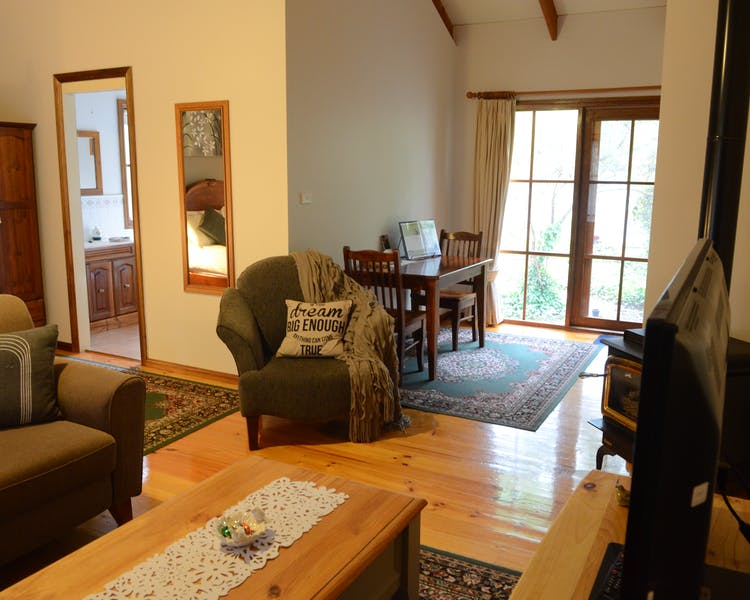 Lounge and Dining area in Ashley Cottage.