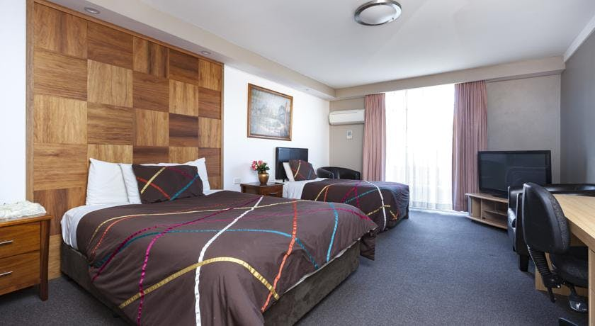 Queen Deluxe Rooms are spacious and have double glazed windows to enhance your comfort and rest.