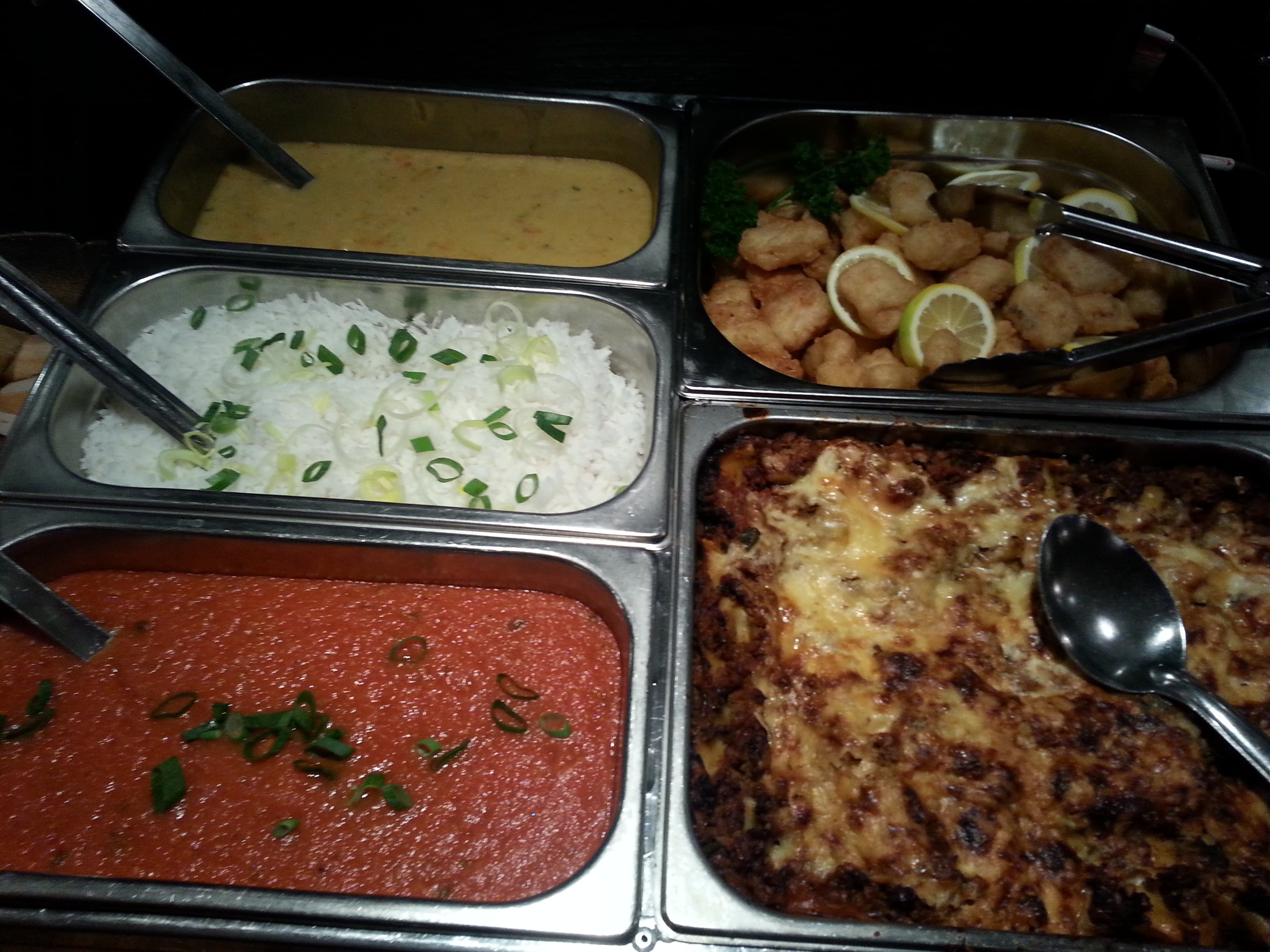 Some of the lovely fresh buffet meals, salads and side dishes from our buffets menu for groups and bookings.