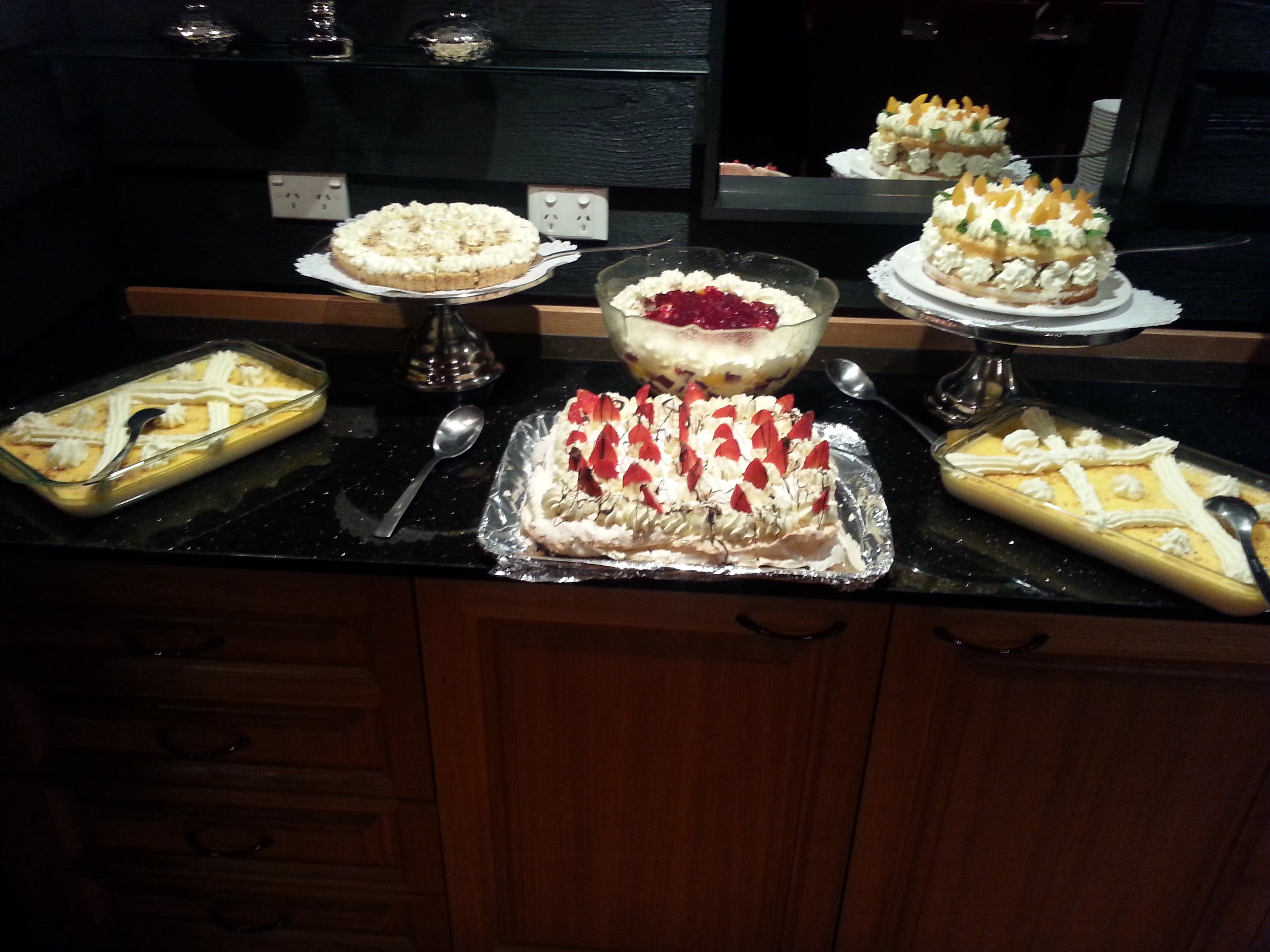 Some of the lovely desserts from our buffets menu for groups and bookings.
