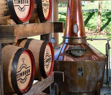 12 Apostles Food Artisan Timboon Railway Shed Distillery Whisky barrels
