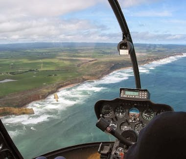 Port Campbell National Park aerial view via helicopter