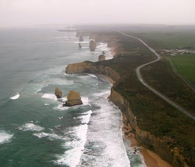 Port Campbell National Park aerial view 12 Apostles