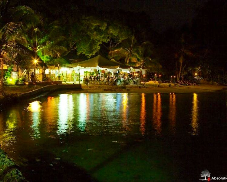 Calypso Beach at night