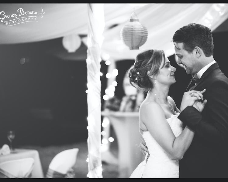 Romantic bridal waltz in the Magical Marquee on Calypso Beach