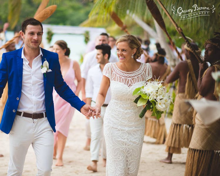 Bride & Groom on Coconut Beach