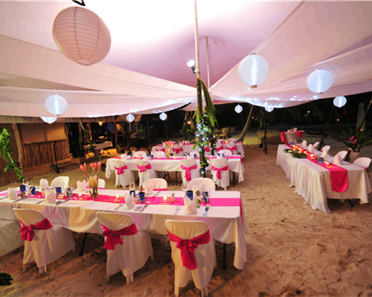 Wedding Reception on Calypso Beach