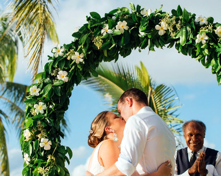 Coconut Beach with a beautiful Floral Arch