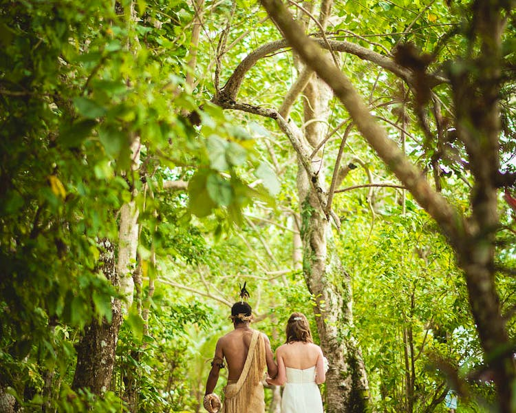 Tropical Island Wedding Aisle