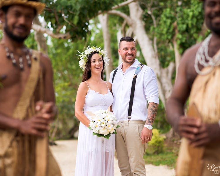 Bride and Groom on Erakor Island