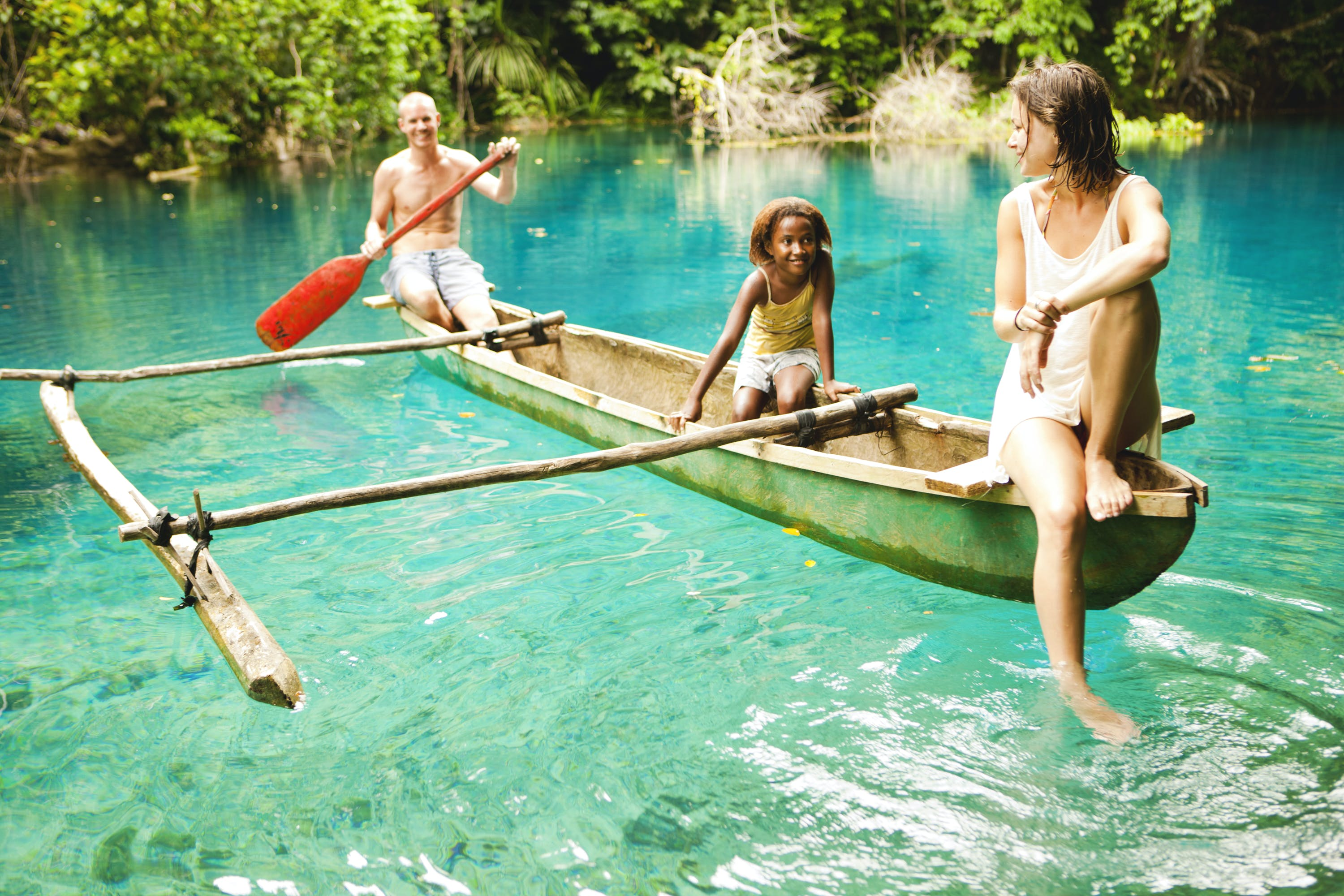 Take a tour in an Outrigger Canoe