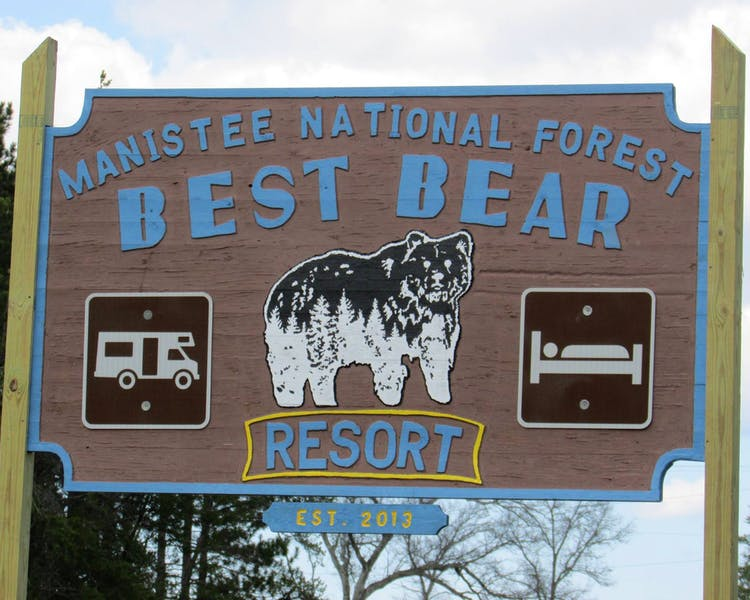 our sign, Best Bear Resort