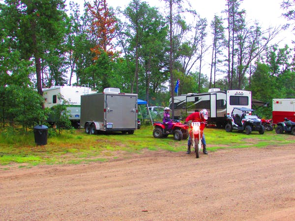 RV campground with Lincoln hills trail access