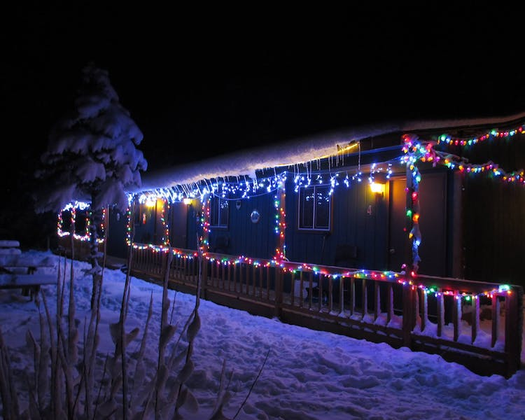 Christmas time is beautiful at Best Bear Lodge and Campground
