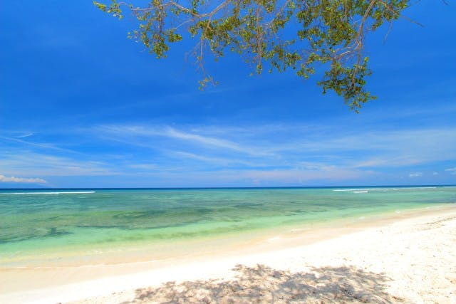 Beach at gili trawangan beach hotel