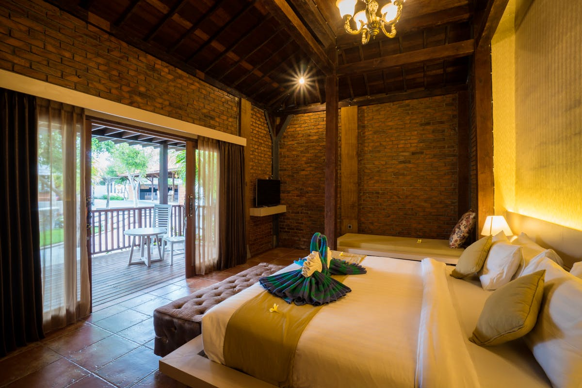 Joglo room in A resort beach villas hotel in Gili Trawangan