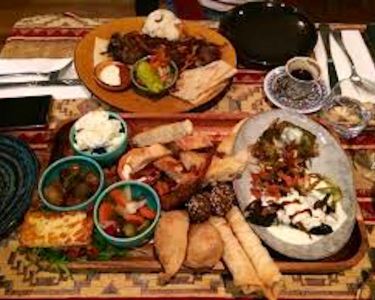 Food at Sofra Turkish Restaurant