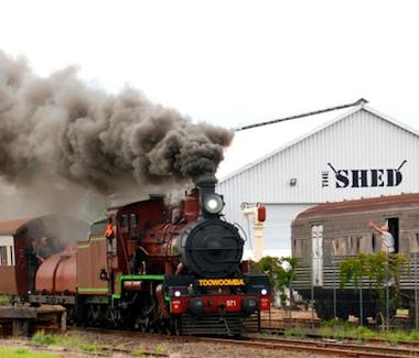 Attraction histoirical Downs Steam preserving steam trains near Vacy Hall Toowoomba's Grand Boutique Hotel