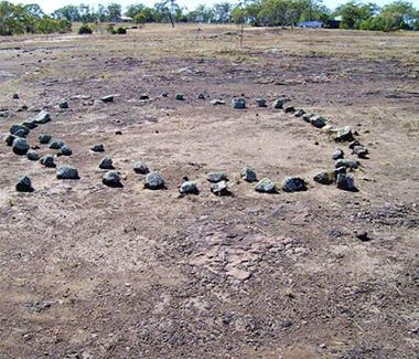 Gumminguruis  an Aboriginal Bora or ceremonial site at Gowrie Junction