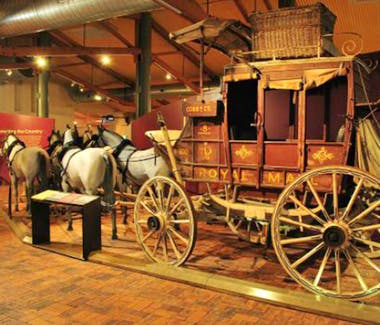 Attraction historical Cobb and Co Museum has the largest collection of horse drawn vehicles in Australia close to Vacy Hall