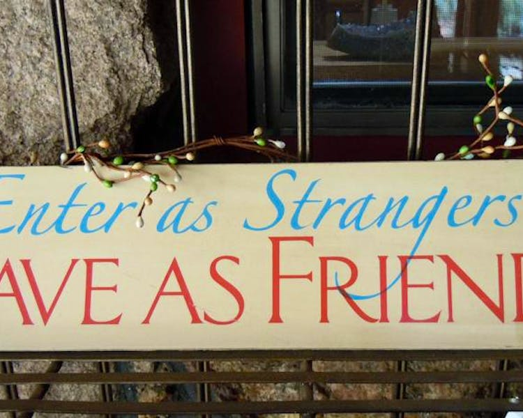 Enter as Strangers, Leave as Friends